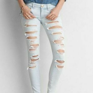 2/$60 American Eagle Super Stretch Ripped Jeans